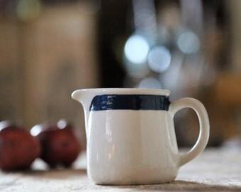 Vintage Creamer / Taverna Pattern / Arabia Finland / Blue Stripe