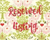 RESERVED Listing for Katy