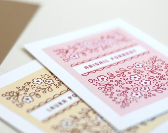 Personalized Note Cards, Personalized Stationery, Women's Gift // Boxed Set of 12 // COUNTRY GARDEN