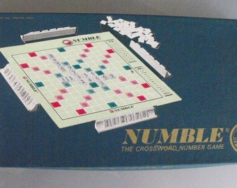 Numble, The Cross Number Game, Vintage Board Game, Toys and Games, Complete, Original Box, Number Game similar to Scrabble, but with Numbers