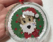Fox Terrier Christmas ornament or decoration / wired haired Fox Terrier / Christmas tag or Dog Ornament