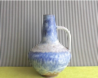 Summersale Fat Lava West German Pottery Handled Vase by Atelier Carstens Tönnieshof Designed by Gerda Heuckeroth