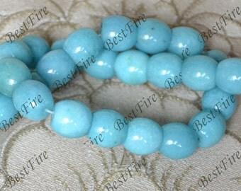 Single blue jade cylinder stone nugget stone Beads,jade  stone beads loose strands,jade Nugget Random Gemstone Bead loose strands
