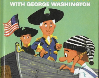 Vintage Mid Century Children's Book - Hector Crosses The River With George Washington