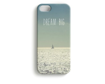 "phone Case ""Dream Big"" Boat Typography"