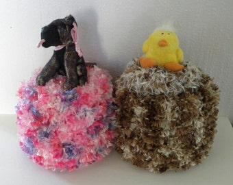 Spare Toilet Paper Roll Cover - Bathroom Tissue Cover - Knitted Toilet Roll Cover - Neutral Bathroom - Pink Bathroom