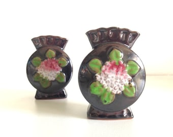 2 Miniature Vases Made in Occupied Japan