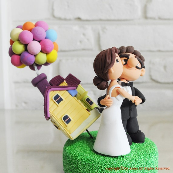 Pixar Up Wedding Cake Topper