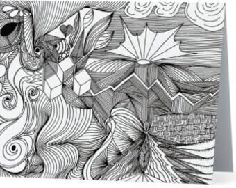 Zentangle Folded Notecards