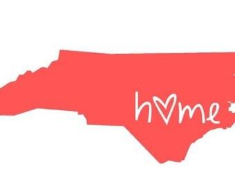 North Carolina State Sticker, Car Decal, Car Sticker