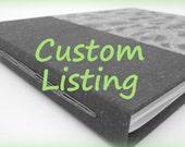 Custom Listing for Vanessa - 9x10 personalized longstitch album