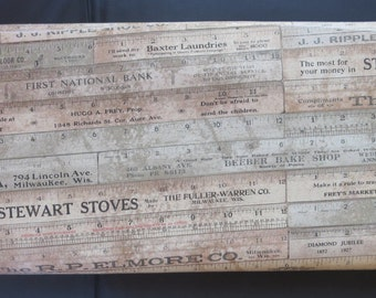 Tim Holtz - Eclectic Elements Foundations - Rulers Brown -     PWTH017B