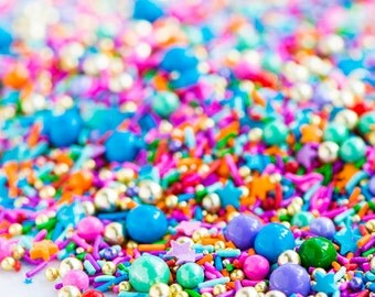 ROCK THE CASBAH Twinkle Sprinkle Medley, Moroccan Sprinkles, Gold and Rainbow, Sprinkle Mix