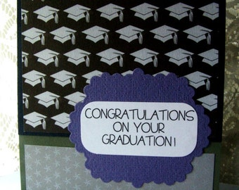 Graduation Card, Happy Graduation, Elegant Graduation card, cap and gown card, Congratulations on your Graduation, Nursing Grad, School card