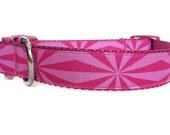 Pink Dog Collar / Girl Dog Collar / Geometric Dog Collar / Nylon Webbing Dog Collar / Tribal Dog Collar / Aztec Dog Collar / Pink Collar