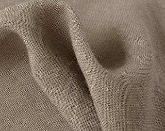 Burlap Fabric / Rustic Ash / Sold by the Yard