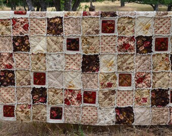 Queen Size Rag Quilt, English Hunting Lodge