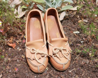 80s Rubber Sole Wedge Shoes Size 6 1/2 or 7
