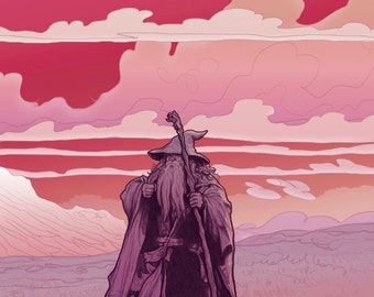 Gandalf Stormcrow Lord of the Rings giclee print