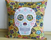 Sugar Skull Embroidered Cushion Pattern