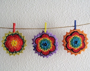 Round Crochet Coasters Set of 3