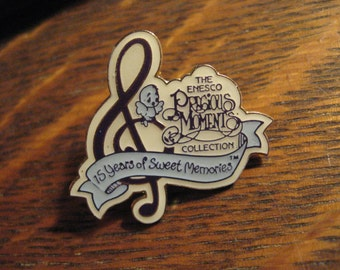 Precious Moments Pin - Vintage 1993 Enesco Collection 15 Years Sweet Memories