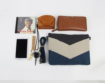 Teal blue and gray, chevron cross bag / Handbag / Shoulder bag, Design by BagyBags