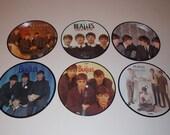 The Beatles - 6x Official 20th Anniversary Picture Disc Singles - EMI Parlophone - 60's / Pop / Rock n Roll / John Lennon / Paul McCartney