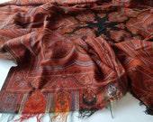 Antique Kashmir Shawl in Wool Paisley Design c1900