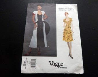 Vintage Vogue Designer Pattern by Ungaro 1980s
