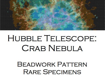 Crab Nebula Peyote Stitch Cuff Bracelet Pattern - Hubble Telescope Image - PDF file