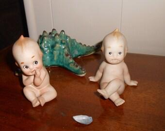 Lefton - Pair of Kewpie Figurines