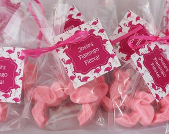 10 Flamingo Party Favor Soaps-20 soaps