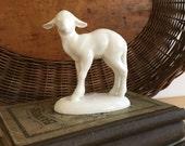 Vintage Matte White Sheep Figurine / Nativity Lamb / Marked Germany