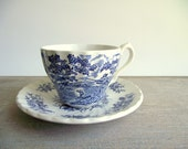 On HOLD for Hannah - Cup Only Mismatched Cup and Saucer | Blue Transferware Coffee Tea Cup | Blue White Tablescape | Vintage China Tea Cup