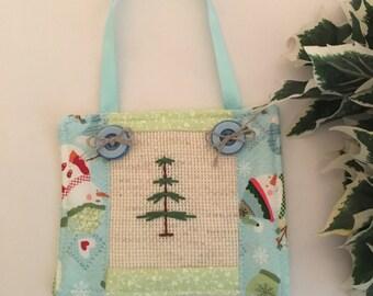 Christmas Tree Ornament - Cross Stitch Tree