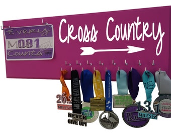 Cross Country Running - Cross country gifts - cross country runner - running Medal Holder and Race Bib Holder -