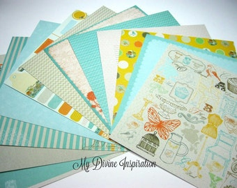12 6 x 6 Prima Lady Bird Paper Collection, Paper Assortment for Scrapbooking Mini Albums Cards Tags and Papercrafts