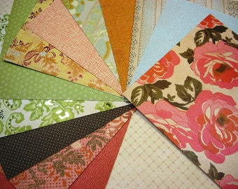 12 6 x 6 K & Company Handmade Designer Papers, Cardstock Supply for Scrapbooking Mini Albums Cards and Papercrafts