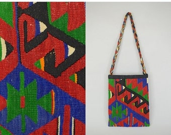 SUMMER SALE TURKISH Kilim Cross-Body Bag