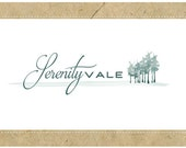 PreDesigned One of a Kind Logo Design - Custom Vector Logo Design  - SERENITY VALE Logo - Custom Branding - Business Branding