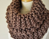 Spring Sale Outlander Inspired Cowl - Claire's Cowl - Outlander Knit - Brown Knit Neckwarmer - Chunky Knitted Cowl - Outlander Cowl - Women'