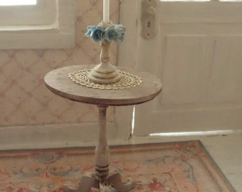 Queen Anne candlestick table - 1:12 dolls house dollhouse miniature