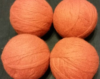 RTS- Set of 4 Reusable Wool dryer balls Great for Cloth Diapers  Eco Friendly Laundry Diapering Washing Clothes Fabric Softener Substitute
