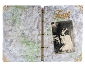 OOAK Journal - Faith - Prayer Journal - Wedding Guestbook - Travel Journal - Artist Notebook -