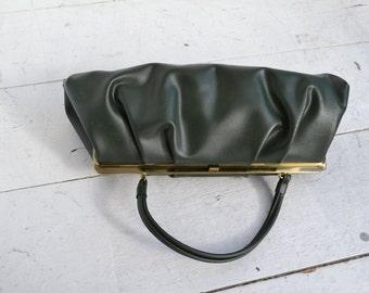 1960s Theodor Green Vinyl Handbag