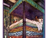 NOW ON SALE The Princess and the Pea from The Real Princess - Illustration by Edmund Dulac Counted Cross Stitch Chart / Pattern / Graph Free