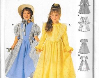 Burda 2525 Girls Princess Costume Pattern Country Prairie Girl Laura Mary Size 4, 5, 6, 7, 8, 9 and 10