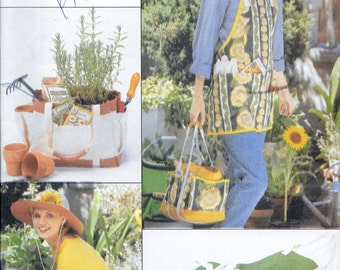 Butterick 4364 Garden Accessories Apron, Bag, Knee Pad, Bucket Cover Sewing Pattern UNCUT
