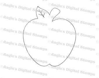 Apple Digital Stamp Image